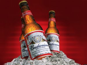 NEW Budweiser 330ml 120 Baht, NEW Budweiser 330ml 120 Baht, Angus O'Tool's