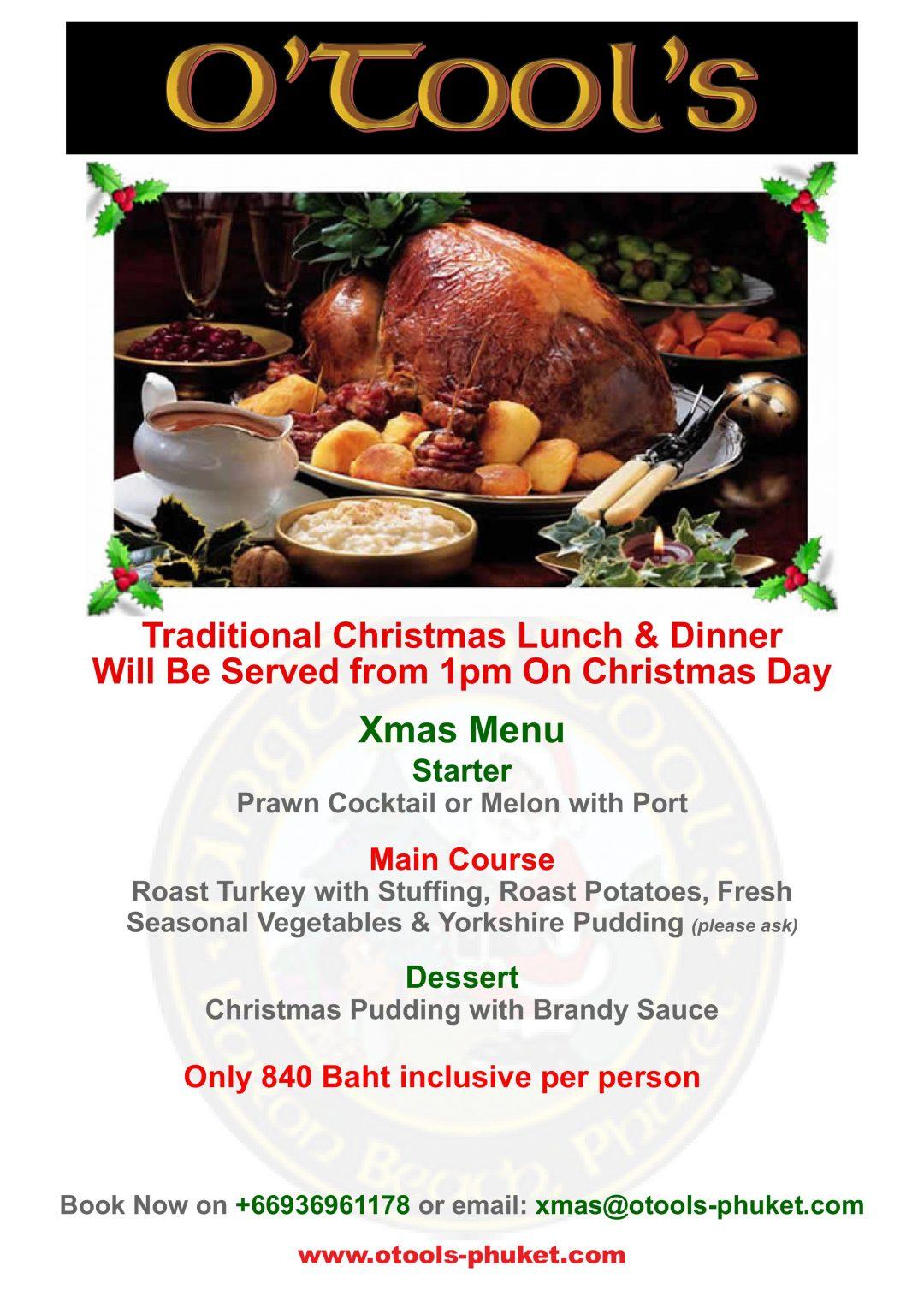 Christmas Lunch Dinner, Christmas Lunch Dinner 2019, Angus O'Tool's, Angus O'Tool's